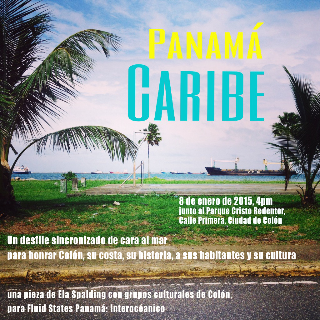 poster for a performance in Colon City, Panama