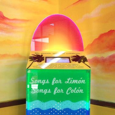 colorful jukebox full of calypsos from Panama and Costa Rica